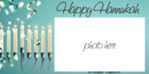 Photo Frame Happy Hanukkah