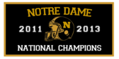 College Football Champions Monogram Banner