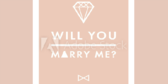 Will You Marry Me Green Banner