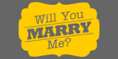 Will You Marry Me Grey Banner
