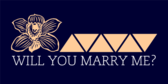 Will You Marry Navy Banner