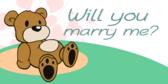 Will You Marry Teddy Bear Banner
