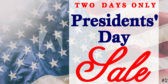 Presidents' Day Sale #21