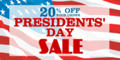 Presidents' Day Sale #14
