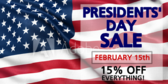 Presidents' Day Sale #3