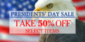 Presidents' Day Sale #2
