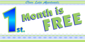 1st. Month is Free