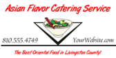 Catering Service (Asian)