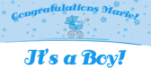 Its a Boy Baby Shower Congratulations Banner