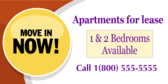 Apartment for Lease #1