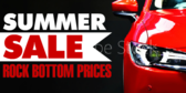 Auto Sale Rock Bottom Prices Banner