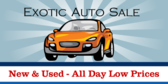 Auto Sale Exotic Cars (New & Used) Banner
