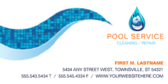 Summer Pool Cleaning Service Banner