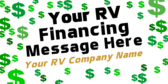 RV Financing Dollar Sign