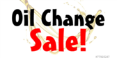 Oil Change Sale