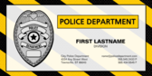 Police Department Business Card