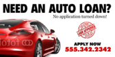 Red Car Loan Banner