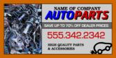 Auto Parts Info Banner