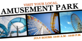 Local Amusement Park Banner