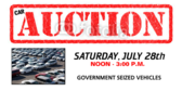 Government Seized Vehicle Auction Banner