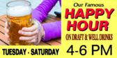 Happy Hour Draft Specials Banner