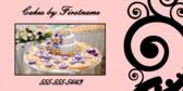 Custom Cake Sign