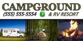 Campground RV Banner