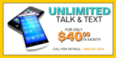Unlimited Talk & Text Banner