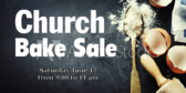 Church Bake Sale Banner