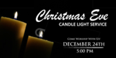 Church Candlelight Service Banner