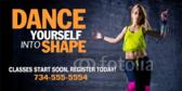 Dance Fitness Banner