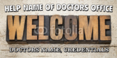 Welcome Doctor Banner