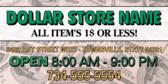 Dollar Store Banner