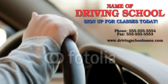 Driving Instruction Banner