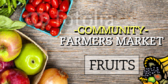 Farmers Market Fruit Banner