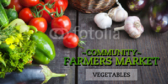 Farmers Market Vegetable Banner