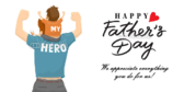 Father's Day My Hero Banner