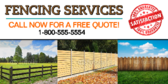 Fencing Services Banner