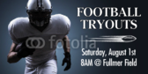 Football Tryouts Banner