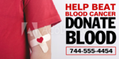 Blood Fundraiser Banner