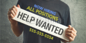 now hiring signs