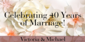 Special Wedding Anniversaries