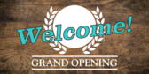 Grand Opening Wooden