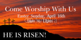 Easter Worship With Us