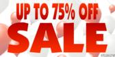 Percent Sale Sign Panel