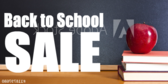 School Sale Sign Panel