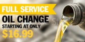 Oil Change Service Ad