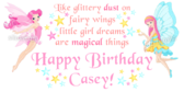 Fairy Birthday Banners