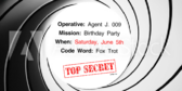 Secret Agent Birthday