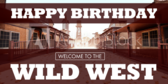 Wild West Birthday